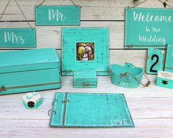 Wedding Guest Book, Wedding Photo album, Custom Guest Book, Choose your color