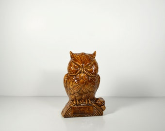 Vintage Owl Ceramic Piggy Bank
