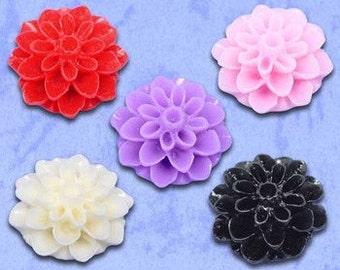 20 - Resin Flower Cabochons