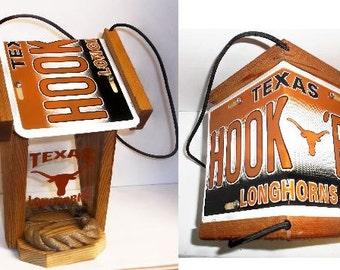 Texas Longhorns Two-Sided Cedar Bird Feeder