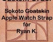 Custom Apple Watch Strap for Ryan K.