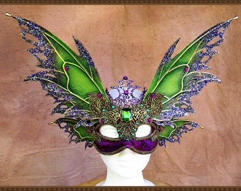 Adult Fairy Wings**Green/Purple/Gold Wings and Mask**FREE SHIPPING**Costume/Masquerade/Cosplay/Weddings