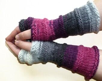 Knit Fingerless gloves | Knitted Fingerless Mittens | Long Arm Warmers | Boho Glove | Women Fingerless | Wrist Warmers Gift