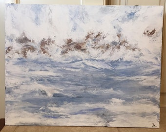 """28"""" x 22"""" Through the Stormy Waters"""