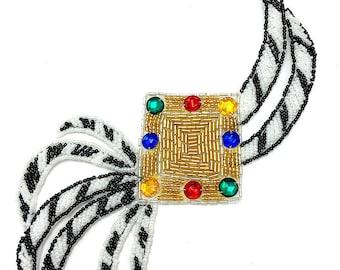 "Designer Motif Applique, All Beads, 8"" x 6""  -B307"