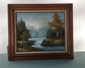 Original Bittlton Oil painting Serene Forest  Landscape Free shipping