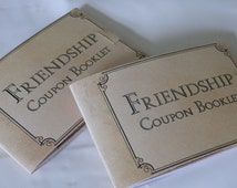 Friendship coupons. Bridal Shower gifts. Stag night gifts. Gifts for bridesmaids and groomsmen.