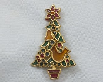 Vintage Christmas Partridge In a Pear Tree