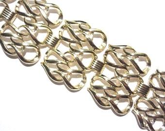 Super Wide Sarah Coventry Bracelet Goldtone Vintage 60s
