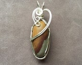 Shiva Lingam Wire Wrapped Pendant, Sterling Silver Pendant