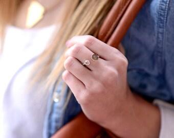 Engraved Birthstone Ring