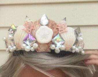 Mermaid Seashell princess crown