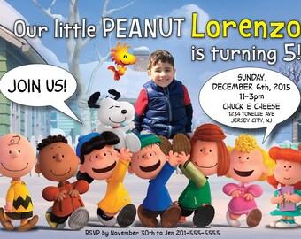 Peanuts Birthday Invitation! Personalized with photo!