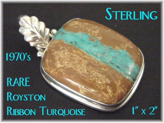 Royston wide ribbon turquoise sterling silver 2 for Royston ribbon turquoise jewelry