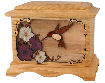 Oak Hummingbird Ambassador Wood Cremation Urn