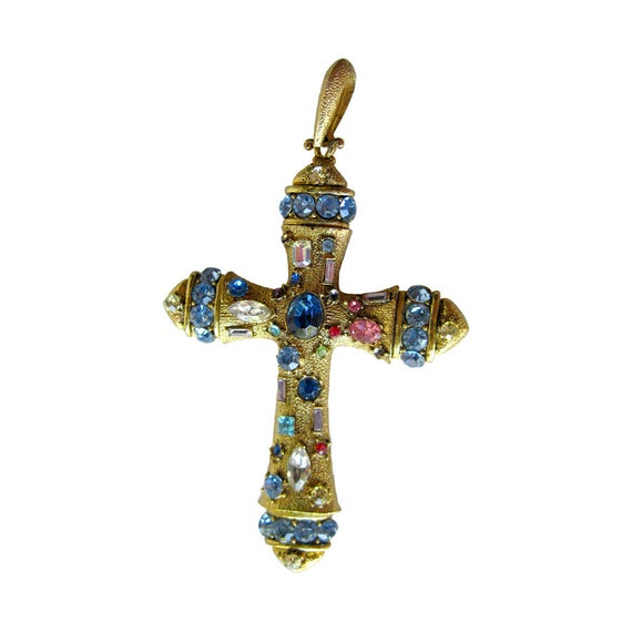 vintage brooch cross jewelry whiting davis openslate collectibles