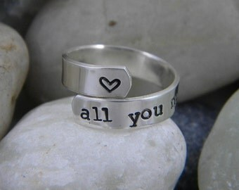 Sterling Silver Ring -All you need is love