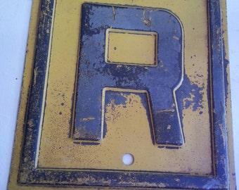 "Embossed Railroad ""R"""