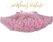 Pettiskirt Tutu Light Pink Fluffy Pettiskirt Baby Girl Newborn Pettiskirt Couture Pettiskirt Beige Tutu
