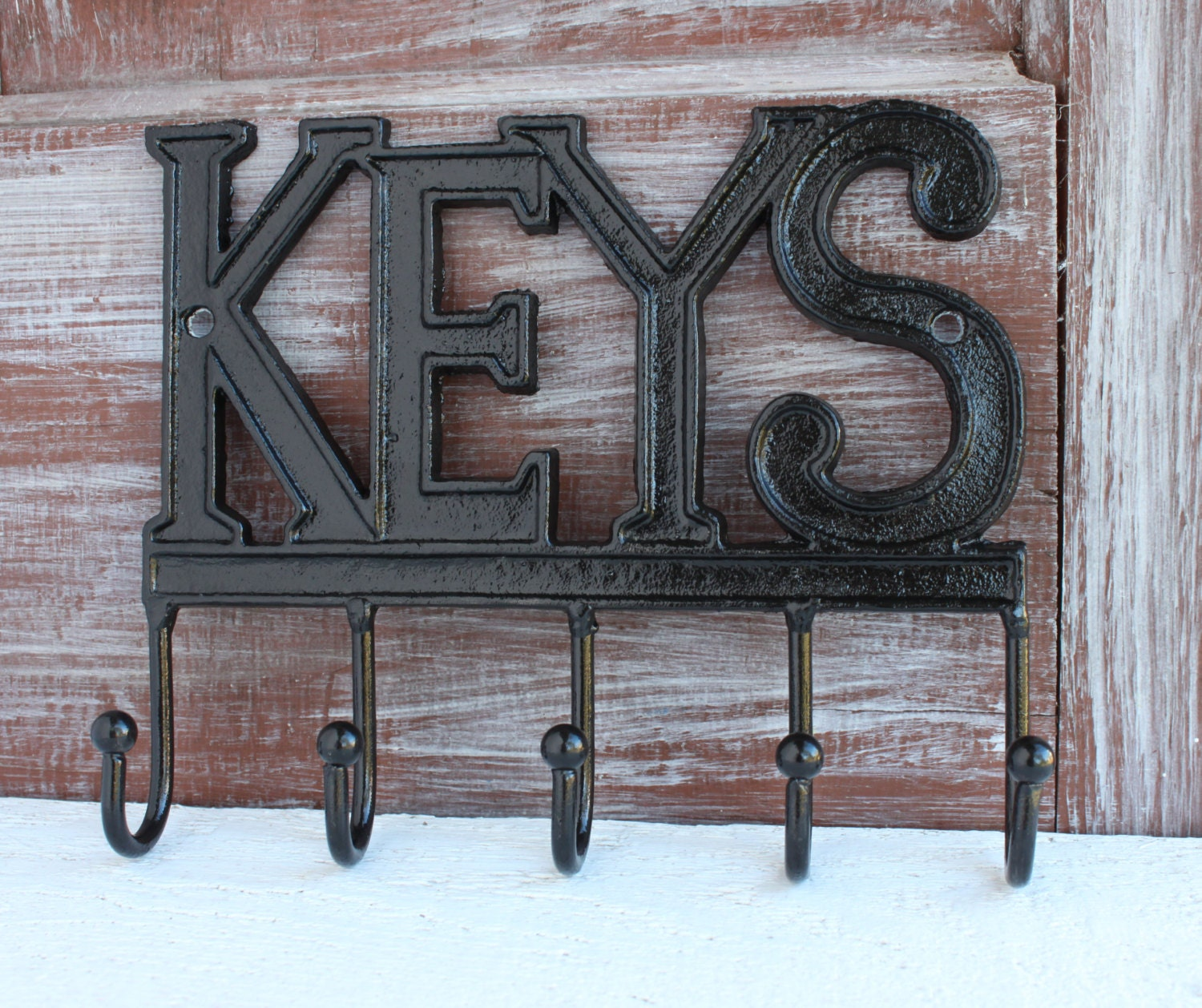 Black Key Holder Wall Key Hook Keys Rack Key Rail Wall