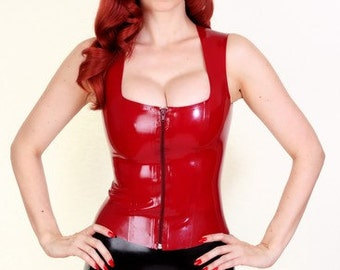 Scoop Neck - Latex Top - FREE SHIPPING