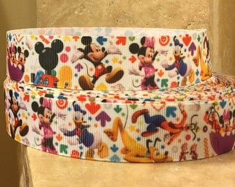 5 YDS Mickey Mouse Clubhouse Ribbon