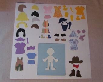 "3"" paper dolls set"