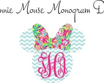 Minnie Mouse Monogram Iron On