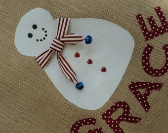 Personalised Christmas Sack - Snowman
