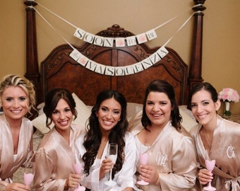 Painted Champagne Glasses for your Bridal Party