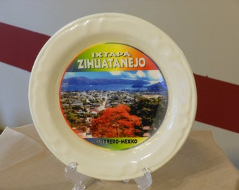 Lojalsa Ixtapa Zihuatanejo Guerrero Mexico Souvenir Plate