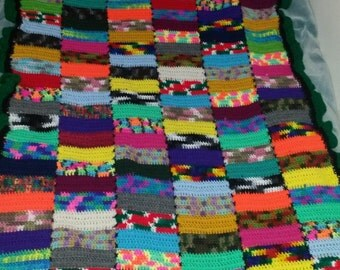 Crazy patchwork-style afgan