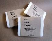1842 Tea Tree Sample - pure olive oil castile soap with tea tree oil (organic . palm oil free)