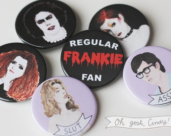 Rocky Horror Picture Show badge button pin