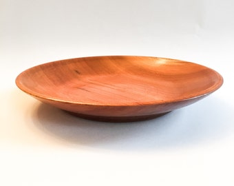 Wood Turned Cherry Platter, Cherry Bowl