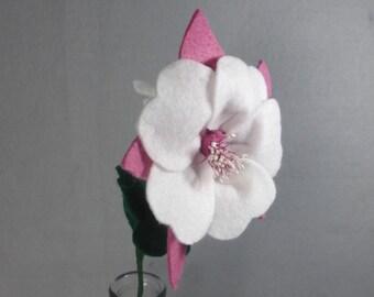 Artificial Flower - Columbine, Fake Flower, Felt Flower, Pink Felt Columbine, Colorado Columbine, Fake Columbine, Pink Flower