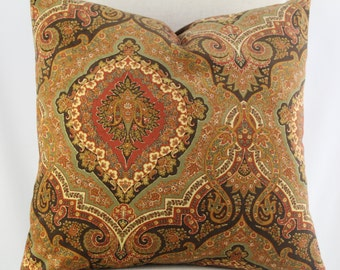 19x19,12x18 Beautiful Rust, Brown and Ponke Color Pillow Cover in a Contemporary Design