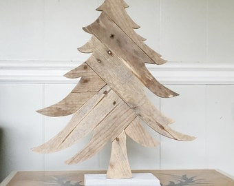 Wooden Christmas Tree Rustic Holiday Decorations