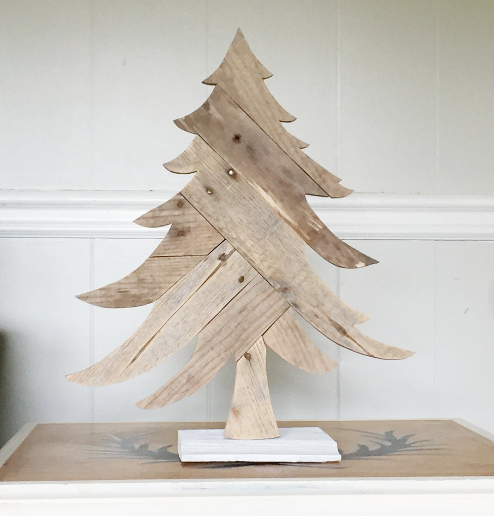 Christmas Tree From Wood: Wooden Christmas Tree Rustic Holiday Decorations
