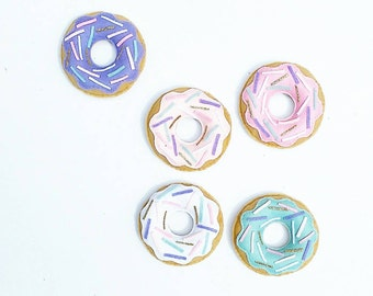 READY TO SEND Pink donut five piece play food set