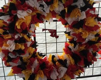 Maryland fabric wreath