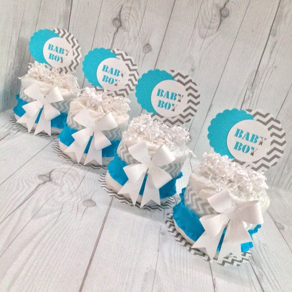 Items similar to mini diaper cake centerpiece kit