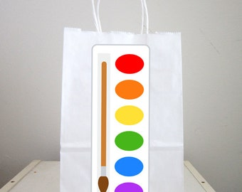 Painting Party Goody Bags, Painting Party Favor Bags, Painting Party Gift Bags, Painting Party Goodie Bags, Art Party Goody Bags