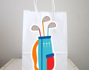 Golf Club Goody Bags, Golfing Goody Bags, Golfing Party Favor Bags, Golfing Gift Bags, Golf Goodie Bags, Golf Goody Bags