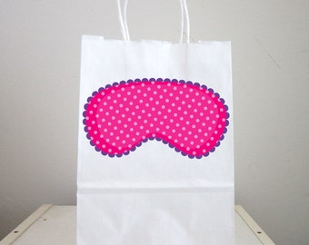 Sleepover Goody Bags, Slumber Party Goody Bags, Sleepover Favor Bags, Slumber Party Favor Bags, Eye Mask Bags,  (52171034P)