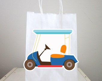 Golf Cart Goody Bags, Golfing Goody Bags, Golfing Party Favor Bags, Golfing Gift Bags, Golf Goodie Bags, Golf Goody Bags (31217817P)