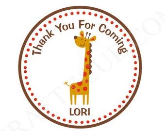Giraffe Goody Bag Tags, Giraffe Favor Tags - Giraffe Birthday Favor Tags, Giraffe Party Favor Tags, Giraffe Gift Bag Tags, Zoo Goody Bag Tag