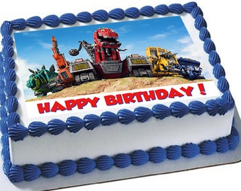 DINOTRUX edible cake toppers, dinotrux edible cupcake toppers, dinotrux cake topper, dinotrux cupcake topper, dinotrux cookie toppers