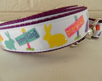 Easter Bunny Xing Dog Leash
