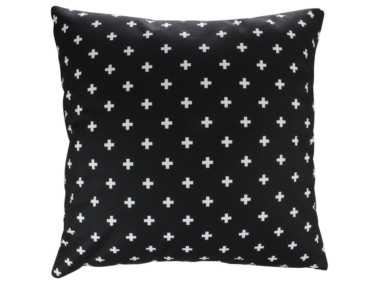 Decorative Pillows With Crosses : Black and White Swiss Cross Decorative Throw Pillow Cover Mini